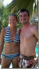 Cam and Stace at Pool