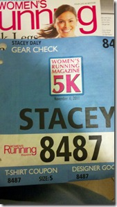 Women's 5K Bib Number