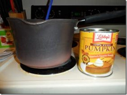 Pumpkin puree and pot