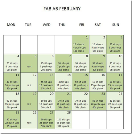 Fab Ab February