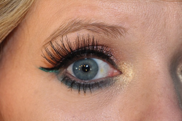 Orange and Teal Eyelook Close Up 2